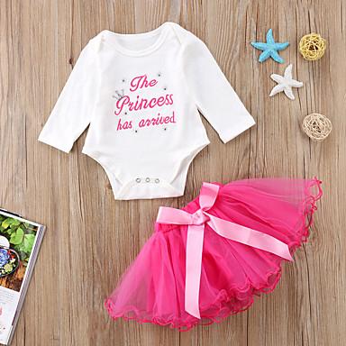 2ca0141638eb Χαμηλού Κόστους Βρεφικά σετ ρούχων-Μωρό Κοριτσίστικα Ενεργό Στάμπα  Μακρυμάνικο Κοντό Βαμβάκι   Spandex Σετ
