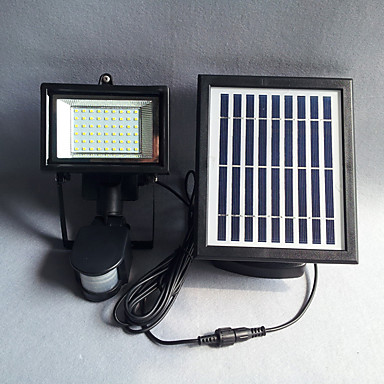billige Utendørsbelysning-1pc 0.2 W Led Street Light / Solar Wall Light Solar / Lysstyring / Motion Detection Monitor Hvit 3.7 V Utendørsbelysning / Courtyard / Have LED perler