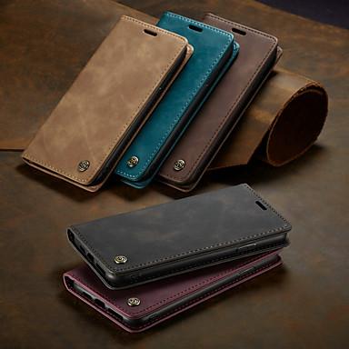hesapli iPhone Kılıfları-Caseme kılıf manyetik kapak cüzdan telefon kılıfları retro katı renkli sert kapak kart yuvaları ile standı için iphone x / xs max / xr / 7/8 artı / 6/6 s artı / 5/5 s / se