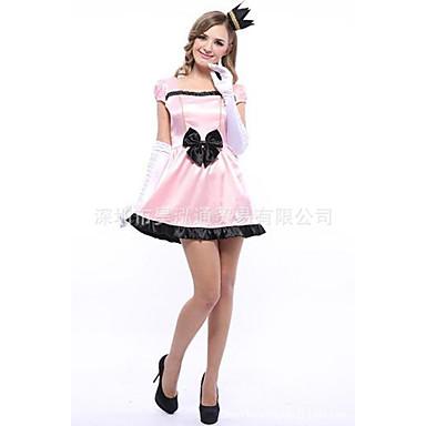 Prinsessa Mekot Cosplay-Asut Naisten Elokuva Cosplay Cosplay Halloween Pinkki Leninki Headwear Halloween Karnevaali Masquerade Tylli Polyesteria