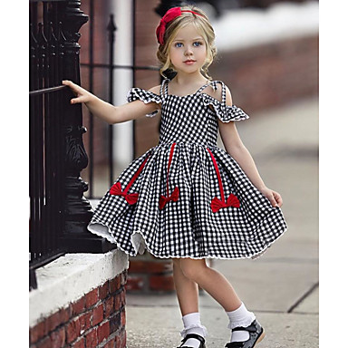 Friendly Baby Girls Polka Dots Butterfly Print Short Sleeve Red Dress Summer Spring Cute Kids' Clothing, Shoes & Accs