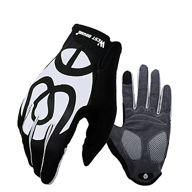 ราคาถูก ถุงมือปั่นจักรยาน-WEST BIKING® ถุงมือขี่จักรยาน ถุงมือสำหรับเสือภูเขา สัมผัสหน้าจอ รักษาให้อุ่น Padded ป้องกันการลื่นล้ม Touch Screen Gloves กิจกรรมและถุงมือสำหรับกีฬา ฤดูหนาว Lycra เจลซิลิโคน ขี่จักรยานปีนเขา