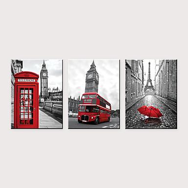 abordables Toiles-Imprimé Impressions sur toile roulées - Célèbre Architecture Classique Trois Panneaux Art Prints