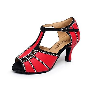 daeee2925ba8 Žene Cipele za latino plesove Najlon Štikle Isprepleteni dijelovi Tanka  visoka peta Moguće personalizirati Plesne cipele Crvena   Plava
