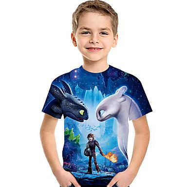 a0d4d0ca1 Kids Toddler Boys' Active Basic Print Print Short Sleeve Polyester Spandex  Tee Blue