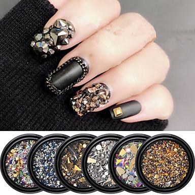 1 pcs Специальный дизайн Синтетические драгоценные камни Стразы для ногтей Кристаллы Назначение Маникюр Мода Урожай Theme маникюр Маникюр педикюр Повседневные Панк / Мода
