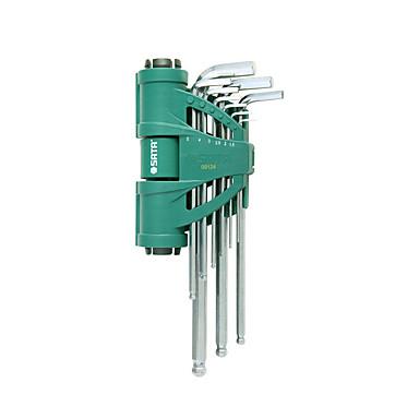 Недорогие Разводные ключи-Набор из 9 шариковых головок с шестигранной головкой SATA, усиливающий силу, 09124