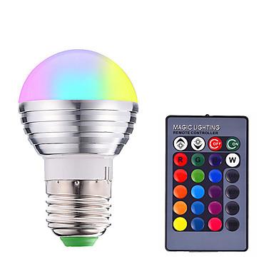 abordables Ampoules électriques-1pc 3 W Ampoules LED Intelligentes 200-250 lm E14 E26 / E27 1 Perles LED SMD 5050 Elégant Intensité Réglable Commandée à Distance RGBW 85-265 V