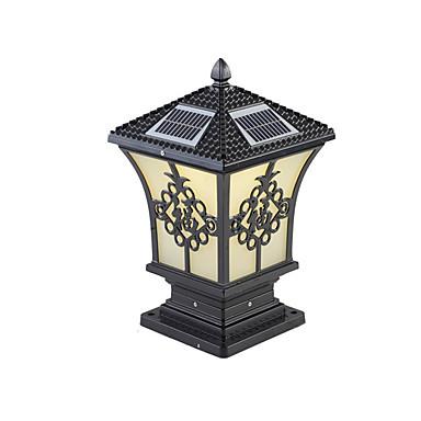 billige Utendørsbelysning-QINGMING® 1pc 3 W plen Lights Vanntett / Solar / Lysstyring Varm hvit + hvit 3.7 V Utendørsbelysning / Courtyard / Have 1 LED perler