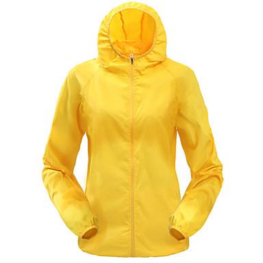 Men's Women's Solid Color Hiking Windbreaker Rain Jacket Hiking Skin Jacket Outdoor Spring Summer Lightweight Windproof Sunscreen UV Resistant Jacket Hoodie Top Camping / Hiking Climbing Cycling