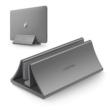 abordables Periféricos de Ordenador-LENTION Stand-LS1 Soporte para laptop Aluminum Alloy Ángulo ajustable Ventilador
