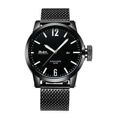 baratos Relógios Homem-Oulm Homens Relógio Elegante Japanês Quartzo Japonês Preta 30 m Relógio Casual Analógico Fashion - Branco Laranja Verde Um ano Ciclo de Vida da Bateria