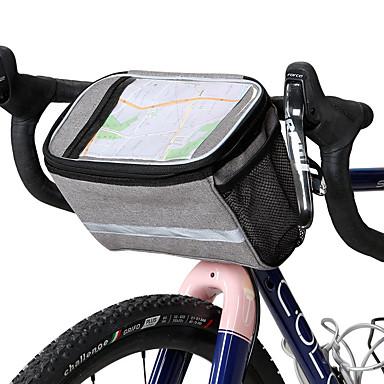 abordables Sacoches de Vélo-ROSWHEEL 4.8 L Sac de téléphone portable Sacoche de Guidon de Vélo Ecran tactile Multicouches Bandes Réfléchissantes Sac de Vélo Tissu 300D Polyester Sac de Cyclisme Sacoche de Vélo Samsung Galaxy S6