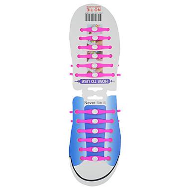 baratos Cadarços-1 Peça Silicone Cadarços Unisexo Todas as Estações Desportos e Ar livre / Casual Vermelho / Azul / Rosa claro