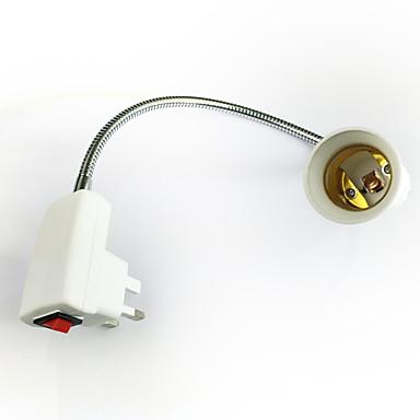 זול תאורה דקורטיבית-1pc UK Plug to E27 E14 100-240 V ממיר פלסטי בית מנורה