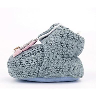 voordelige Babyschoenentjes-Meisjes Comfortabel / Eerste schoentjes Katoen Laarzen Zuigelingen (0-9m) Groen / Roze / Khaki Winter / Korte laarsjes / Enkellaarsjes