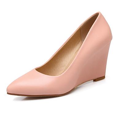 11d2ff5b96 Women's PU(Polyurethane) Summer / Spring & Summer Heels Wedge Heel Light  Purple / Pink / Almond