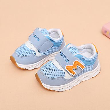 voordelige Babyschoenentjes-Meisjes Oplichtende schoenen Netstof Sportschoenen Peuter (9m-4ys) / Little Kids (4-7ys) Hardlopen / Wandelen Grijs / Roze / Lichtblauw Zomer / Rubber