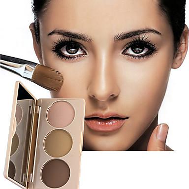 3 colores Seco Portátil / Casual / Diario Sonrojo China Simple / Portátil Simple / Con Tapa / Portátil Formal / Ropa Cotidiana / Casual / Diario Cuadrado Maquillaje Cosmético