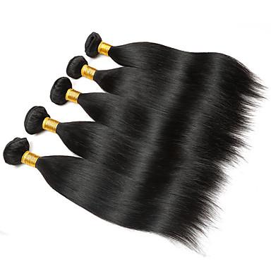 voordelige Weaves van echt haar-6 bundels Braziliaans haar Recht 100% Remy haarweefselbundels Menselijk haar weeft Bundle Hair Een Pack Solution 8-28inch Natuurlijke Kleur Menselijk haar weeft Pasgeboren Waterherfst Schattig