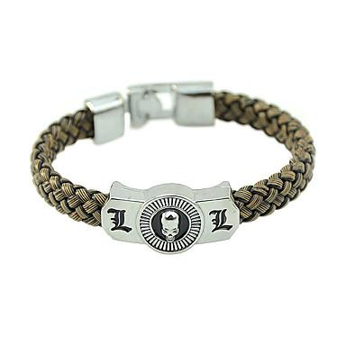 voordelige Herensieraden-Heren Dames Lederen armbanden gevlochten Schedel Stijlvol Uniek ontwerp Modieus PU Armband sieraden Koffie Voor Carnaval Straat Festival