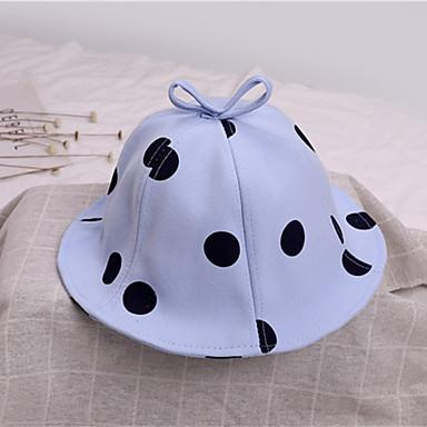 45e06cd25e7 Γιούνισεξ Συνδυασμός Χρωμάτων Ενεργό χαριτωμένο στυλ Βαμβάκι Τύπου bucket  Καπέλο ηλίου Άνοιξη Καλοκαίρι Κίτρινο Μπλε Απαλό Ανοικτό μπλε