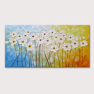 povoljno Dom i vrt-Hang oslikana uljanim bojama Ručno oslikana - Sažetak Cvjetni / Botanički Moderna Uključi Unutarnji okvir