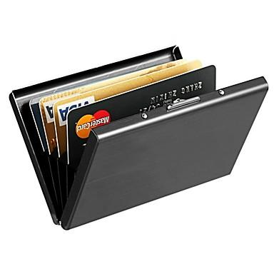 billige Lommebøker-Unisex Legering Punge Helfarge Svart / Sølv