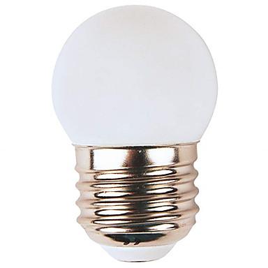 billige Elpærer-1pc 1 W LED-globepærer 80 lm E26 / E27 G45 8 LED perler SMD 2835 Fest Dekorativ Jul Bryllup Dekorasjon Varm hvit Hvit Rød 220-240 V