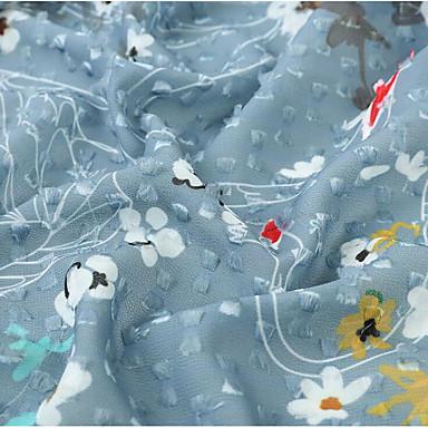 쉬폰 꽃 스트레치 150 cm 폭 구조 용 특별 행사 팔린 ~에 의해 미터