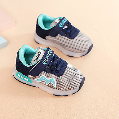 voordelige Babyschoenentjes-Jongens Oplichtende schoenen Synthetisch Sportschoenen Peuter (9m-4ys) / Little Kids (4-7ys) Hardlopen / Wandelen Zwart / Grijs / Roze Zomer / Rubber