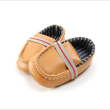 baratos Sapatos de Criança-Para Meninos Sintéticos Mocassins e Slip-Ons Crianças (0-9m) Mocassim Branco / Preto / Amarelo Verão