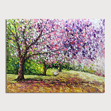 Hang-Malowane obraz olejny Ręcznie malowane - Krajobraz Nowoczesny Zwinięte płótna