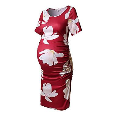 be51350f563e Γυναικεία Κομψό στυλ street Κομψό Θήκη T Shirt Φόρεμα - Φλοράλ