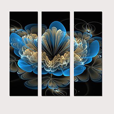 abordables Toiles-Imprimé Impression sur Toile - Abstrait Botanique Moderne Trois Panneaux Art Prints