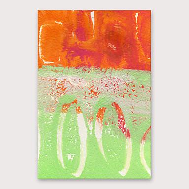 Hang-Painted Oliemaleri Hånd malede - Abstrakt Moderne Omfatter indre ramme