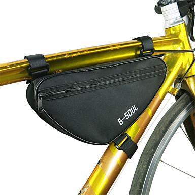 billige Sykkelvesker-B-SOUL 1.8 L Vesker til sykkelramme Triangle Frame Bag Bærbar Holdbar Sykkelveske Terylene Sykkelveske Sykkelveske Sykling Vei Sykkel Fjellsykkel Utendørs