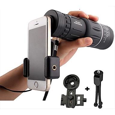voordelige Microscopen & Endoscopen-16x52 high power hd monoculaire telescooplens dual focus prisma scope met nachtzicht inclusief universele smartphone mount en statief waterdicht mistproof compact 16x zoomlens voor alle buiten