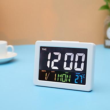 23fd61a22 ساعة حائط ساعة لسطح الطاولة الحديث المعاصر بلاستيك مربع