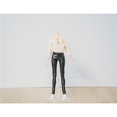 voordelige Poppenaccessoires-Doll Top Stijlvol Tops Voor Barbie Modieus Wit Kant Katoenen Doek Wollen Stof Top / String Voor voor meisjes Speelgoedpop