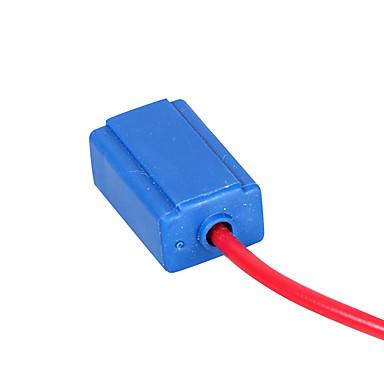 2pcs h1 / h3 נקבה המנורה קרמיקה תקע פנס חוטי החשמל תקע כבל עם קו