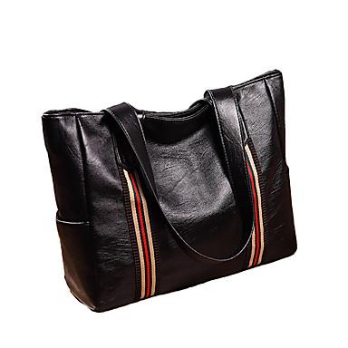 preiswerte Taschen-Damen Taschen PU Tragetasche Volltonfarbe Schwarz