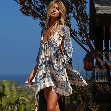 בגדי ריקוד נשים בגד ים מכסים בגדי ים נושם ייבוש מהיר שרוולים קצרים שחייה ספורט מים אחיד קיץ / סטרצ'י (נמתח)