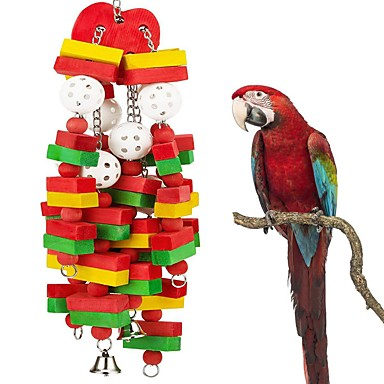 billige Tilbehør til fugl-Fugl Vagler og stiger Tre Dyrevennlig / Focus Toy / Felt / Fabric Toys 50 cm