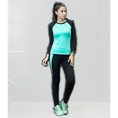 בגדי ריקוד נשים יוגה למעלה קולור בלוק אלסטיין יוגה ריצה כושר וספורט צמרות לבוש אקטיבי נושם ייבוש מהיר תומך זיעה גמישות גבוהה