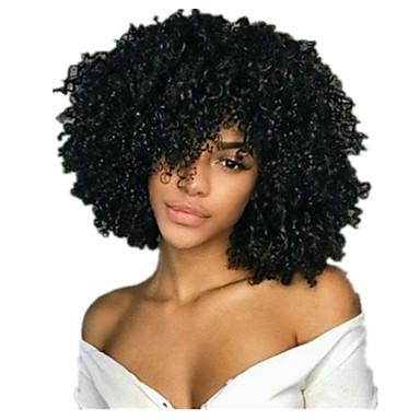שיער אנושי חזית תחרה פאה חלק אמצעי בסגנון שיער ברזיאלי מתולתל שחור פאה 130% צפיפות שיער נשים בגדי ריקוד נשים קצר אחרים Clytie