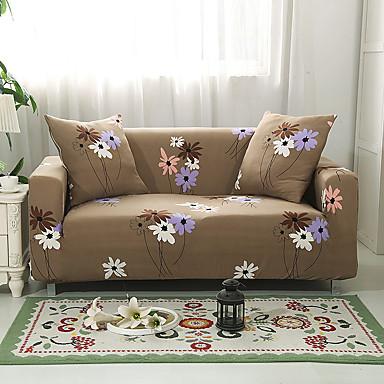 billige Møbelbetræk-Sofa cover høj stretch blomst kombinatorisk blød elastisk polyester slipcovers