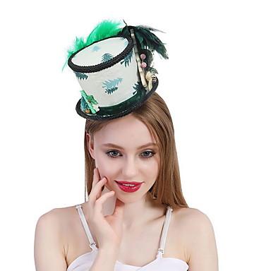 お買い得  パーティー用ヘッドピース-ポリエステル / シルク / 羽毛 帽子 とともに フェザー / トリム / ラッフル 1個 結婚式 / パーティー/フォーマル かぶと