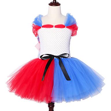 お買い得  女児 ドレス-自殺分隊ハーレークインチュチュドレス女の子ファンシーパーティー子供ハロウィンコスプレ衣装oネック