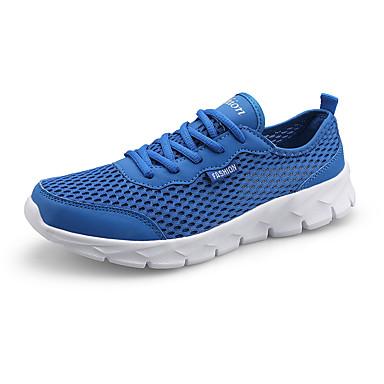 בגדי ריקוד גברים נעלי נוחות רשת אביב קיץ / סתיו חורף ספורטיבי / יום יומי נעלי אתלטיקה ריצה / הליכה נושם אפור כהה / אפור בהיר / כחול